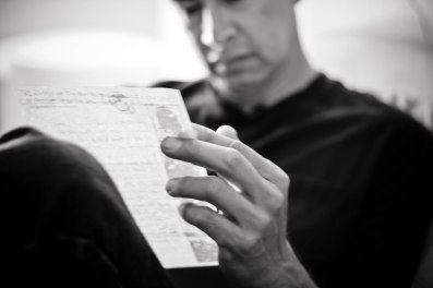 man and letter
